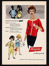 3w1850/ Alte Reklame von 1960 - HENGELLA - Trikot- u. Strickwarenfabrik - Aalen