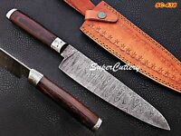 Custom Handmade Damascus Steel Chef Knife wenge Wood