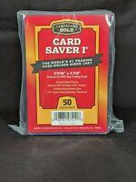 50 Ct Card Saver 1 CS I Cardboard Gold PSA Graded Semi Rigid Holders BRAND NEW