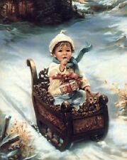 Sandra Kuck A TIME FOR GIVING 16x20 open edition Christmas Portrait OUT OF PRINT