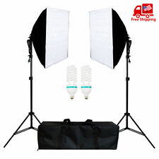 Photo Studio Continuous Photo Video Light Softbox Lighting Stand Photograpy Kit