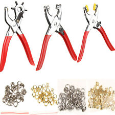 128Pcs Set Leather Hole Punch Repair Tools with Eyelets Grommets and Pliers #LS