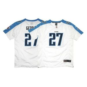 Eddie George Nike Tennessee Titans Away White Game Jersey YOUTH XL (18)