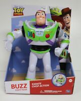 TOY STORY BUZZ LIGHTYEAR WITH KARATE CHOP ACTION DISNEY PIXAR SPACE RANGER FIGUR
