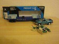KLINE CSX Flatcar w/ Ford Pickup & 5 Mechanics, # 6611431