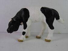 p129- Schleich 13111 - Kalb stehend schwarz weiß / calf black and white VARIANTE