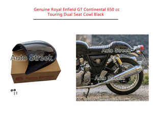 Genuine Royal Enfield GT Continental 650 cc Touring Dual Seat Cowl Black