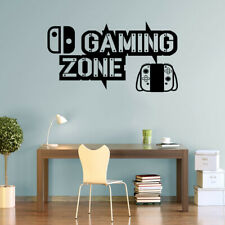 Gaming Zone Wall Stickers Nintendo Switch Controller Gamer Vinyl Decals Nintendo