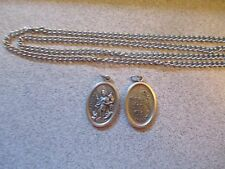 CATHOLIC Saint Florian (Patron Saint Of Firefighters) Medal on Chain