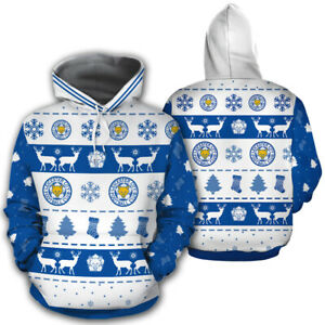 Leicester City F.C. Chrismas Pattern Unisex 3D Hoodie Pullover All Over Print
