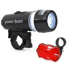 Cycle Multi Functional Head Light (White & Rear Warning Light (Red) LED set BNIB