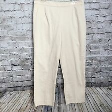 Womens Peck & Peck Collection Career Straight Leg Cream Size 10 Pants, L