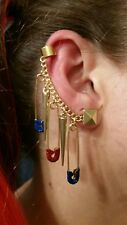 NEW Harley Quinn Glitter Safety Pins & Large Spike Earrings!