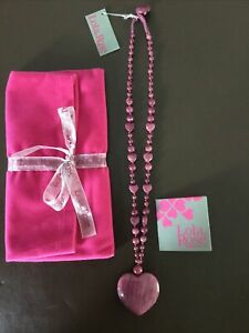 Lola Rose Heart Shaped Necklace New With Tags