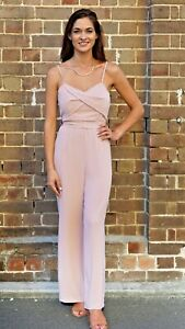 Women Strappy Jumpsuit in Blush Summer Cocktail Evening Party playsuit
