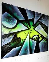 Peinture tableau a l`huile sur toile abstraite contemporaine