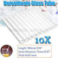 "10mm OD 6mm ID 11-12/"" Borosilicate Glass Tubing 15 Tubes 2 mm Thick Pyrex COE 33"