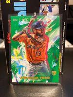 2020 Inception Base Green Parallel #7 Abraham Toro RC - Houston Astros