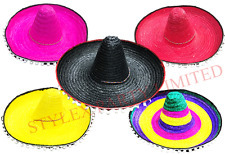 Mexican Hat Sombrero Fancy Dress Costume Southwest Accessory Cowboy Indian Adult