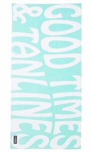 NIP Victoria's Secret Pink Good Times Sea Foam Green and White Beach Pool Towel