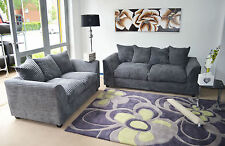 DYLAN PORTO FERGUSON 3 AND 2 SEATER JUMBO CORD  SOFA SETTEE COUCH