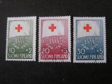 FINLAND, SCOTT # B145-B147(3), SET 1957 SEMI-POSTAL RED CROSS ISSUE USED
