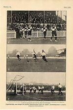 Wettspiel der deutschen Fußballmanschaft gegen England-Association in London1901