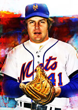 2021 Tom Seaver New York Mets 6/25 Art ACEO Sketch Print Card By:Q