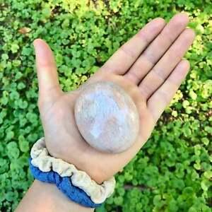 Orange Moonstone Palm Stone Orange Moonstone Worry Stone Tumbled Orange Crystal
