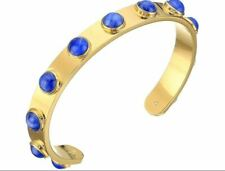 Kate Spade New York Tag Along Gold-Tone Bezel Blue Stone Cuff Bracelet Gold Tone