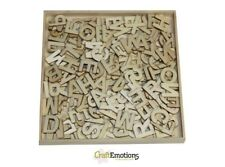 Boîte de Alphabet Lettres en Bois formes 250 Pièces Aléatoires Pick 12 mm Haute