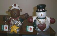 Midwest Eddie Walker Roly Poly Snowman and Reindeer