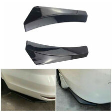 Pair Glossy Black Car Auto Rear Bumper Lip Diffuser Splitter Canard Protector