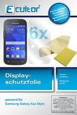 6x Samsung Galaxy Ace Style Pellicola Prottetiva Transparente Proteggi Schermo