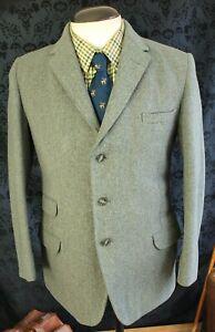 Amazing Bespoke Heavy Vintage Keepers Tweed Gamekeeper Jacket Size 38 Small