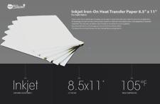 Inkjet Iron On Heat Transfer Printer Paper Light Fabric 50 Sheets 85 X 11