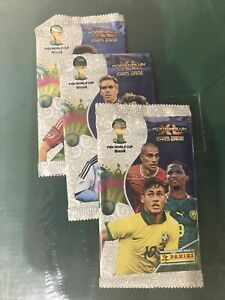 New&Sealed! 2014 Panini Adrenalyn XL FIFA World Cup Brasil Lot Of 3 Card Packs