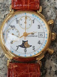Orologio Cronografo Lorenz Meccanico Cal 7768 valjoux  funzionante con fasi luna