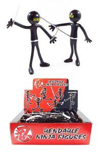 Bendy Men / Man - Ninja Edition -  Party Bag Fillers Boys Girls Gift Favours
