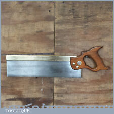 "Vintage 14"" Taylor Bros Sheffield Brass Back Bench Saw – Sharpened"