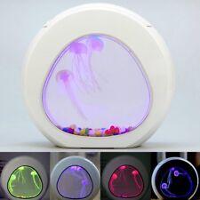 LED 7 Color Light Glowing Jellyfish Aquarium Fish Tank Home Desktop Decor Gift