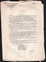 Bando giunta provvisoria di governo formazione giunta Municipale settembre 1860