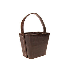 RRP €245 STAUD Leather Tote Bag Croc Embossed Single Handle Structured Design