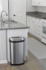 50 L Slim Poubelle pour à l'intérieur de cuisine avec automatique détecteur de mouvement s/couvercle en acier