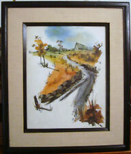 """M. KATZ SIGNED & DATED 66 11""""X13"""" PAINTING FRAMED WOOD FRAME ART PICTURE RARE"""