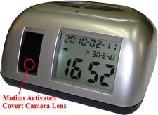 Motion Detection Clock Camera for Surveillance Using AC Power KL213S