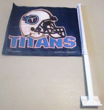 "TENNESSEE TITANS NFL Titans Helmet Logo 2 Sided CAR FLAG 11""x15"" Flag  Post 20"""