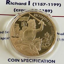 RICHARD I $2 2003 24 CARAT GOLD PLATED PROOF ECCB PIEDFORT - coa