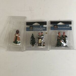Lot of 3 Carole Towne / Lemax Figures - Granddaddy, Starched Shirt, Single Lady