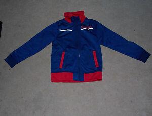 Reebok Trainingsanzug Gr. 176 blau/rot glänzend